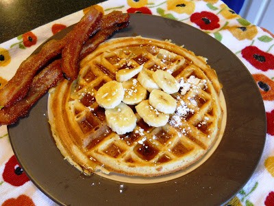 Brown Sugar Bacon and Waffles