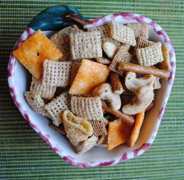 This Ranch Chex Mix is loaded with crunchy favorites and a hint of sweetness!