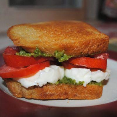 Pesto, Tomato, Mozz Sandwich 2