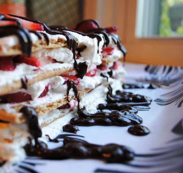 Strawberries and Cream Icebox Cake