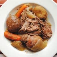 Tender Beer Soaked Crock Pot Roast