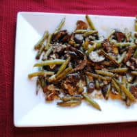 Balsamic roasted green beans 2
