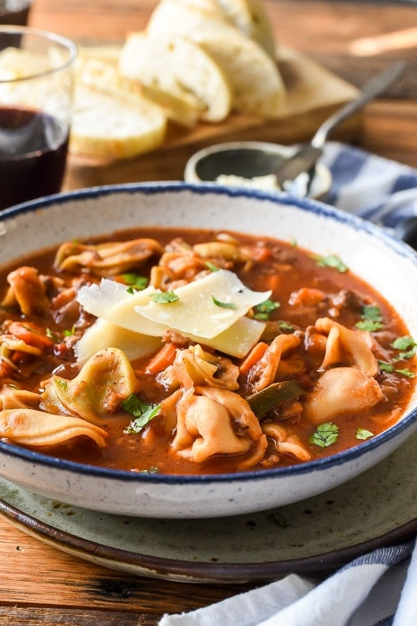This Italian Sausage Tortellini Soup is one of my favorite meals to cook for company. It's hearty and satisfying and will make your house smell amazing!