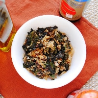 Spicy-Sweet Kale, Coconut, and Brown Rice