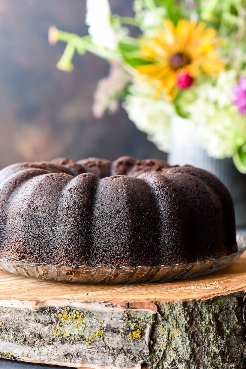 Chocolate Bundt Cake without glaze