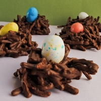 Chocolate Robin's Egg Nests (With Gluten Free version)