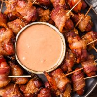 Bacon Wrapped Little Smokies (Meat Candy)