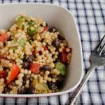 Israeli Couscous Salad with Cilantro Lime Dressing