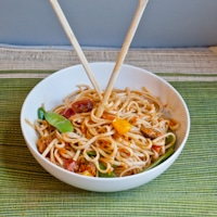 Forgotten Veggie Spicy Udon Noodle Bowl