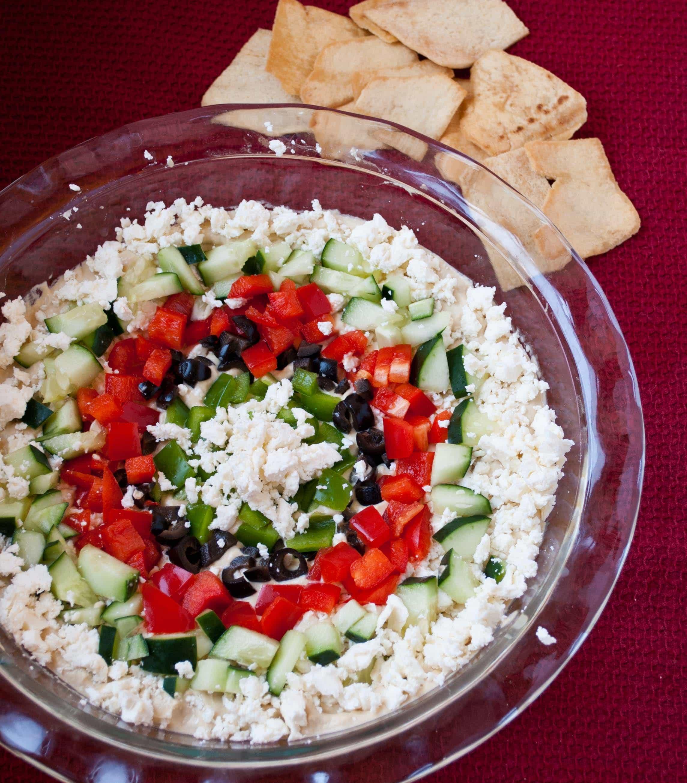 Festive Greek Hummus and Feta Dip | Neighborfood