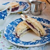 Blackberry Jam Cream Tea Scones for Downton Abbey