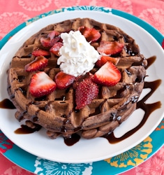 Double chocolate waffles thumb