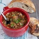 Easy Vegan Lentil Soup for #SundaySupper