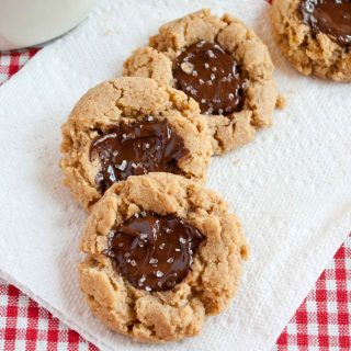 Chocolate Peanut Butter Cookies with Sea Salt