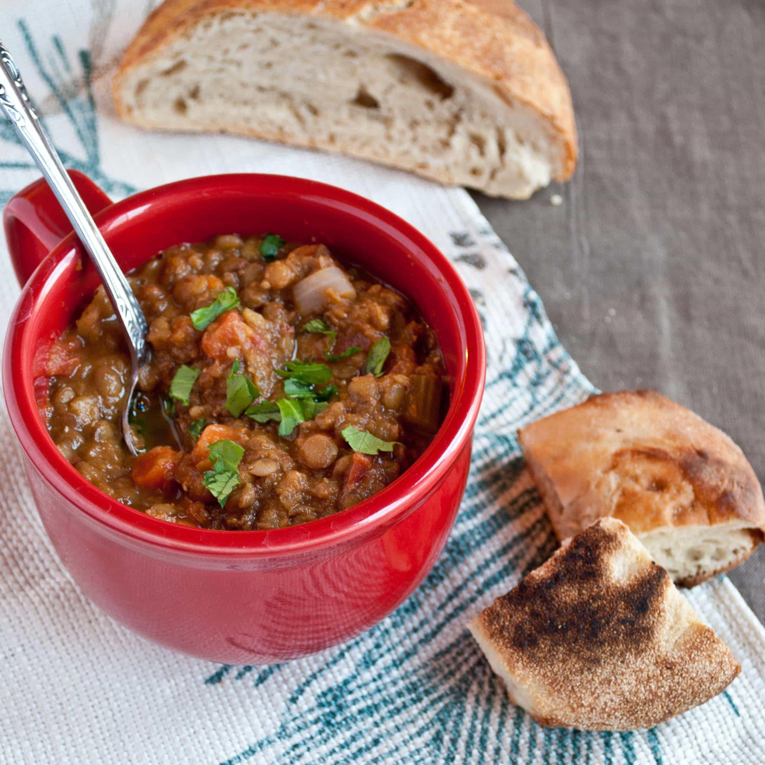Recipe for Vegan Gluten Free Lentil Soup