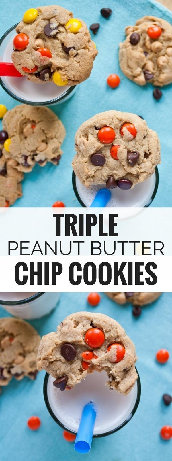 Triple Peanut Butter Chocolate Chip Cookies | Neighborfood