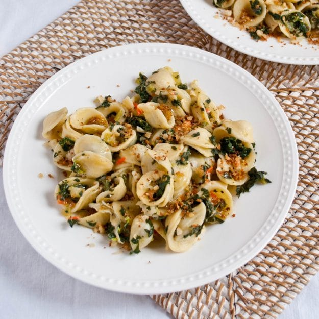 Veggie Orecchiette with Fresh Breadcrumbs