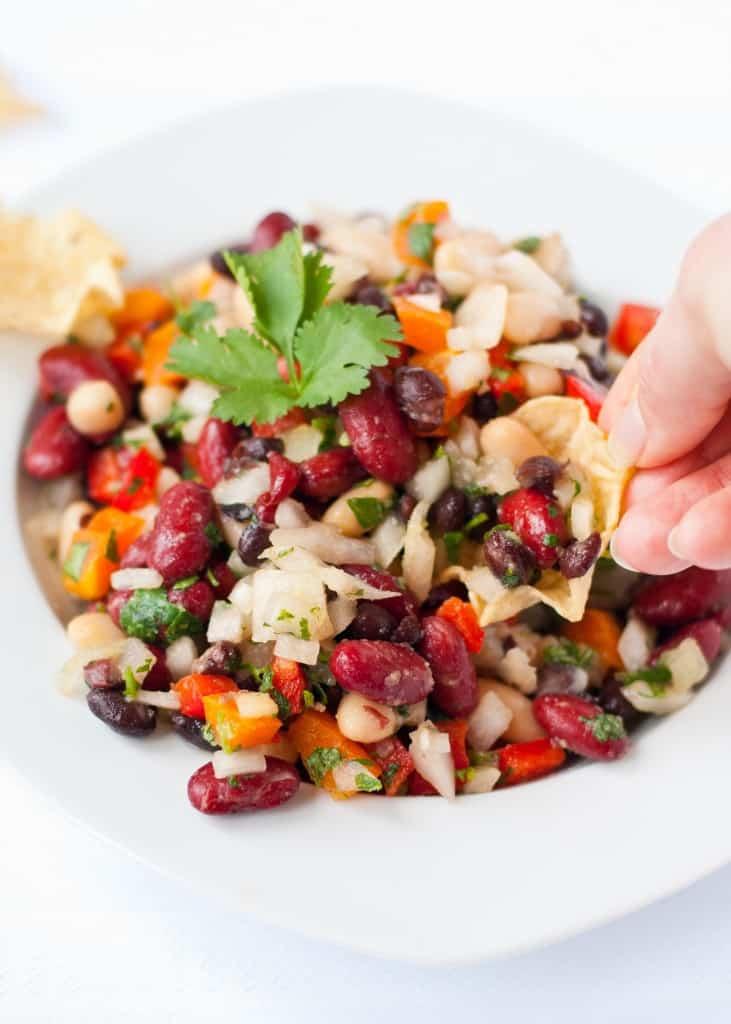 Easy 3 Bean Cilantro Lime Salad