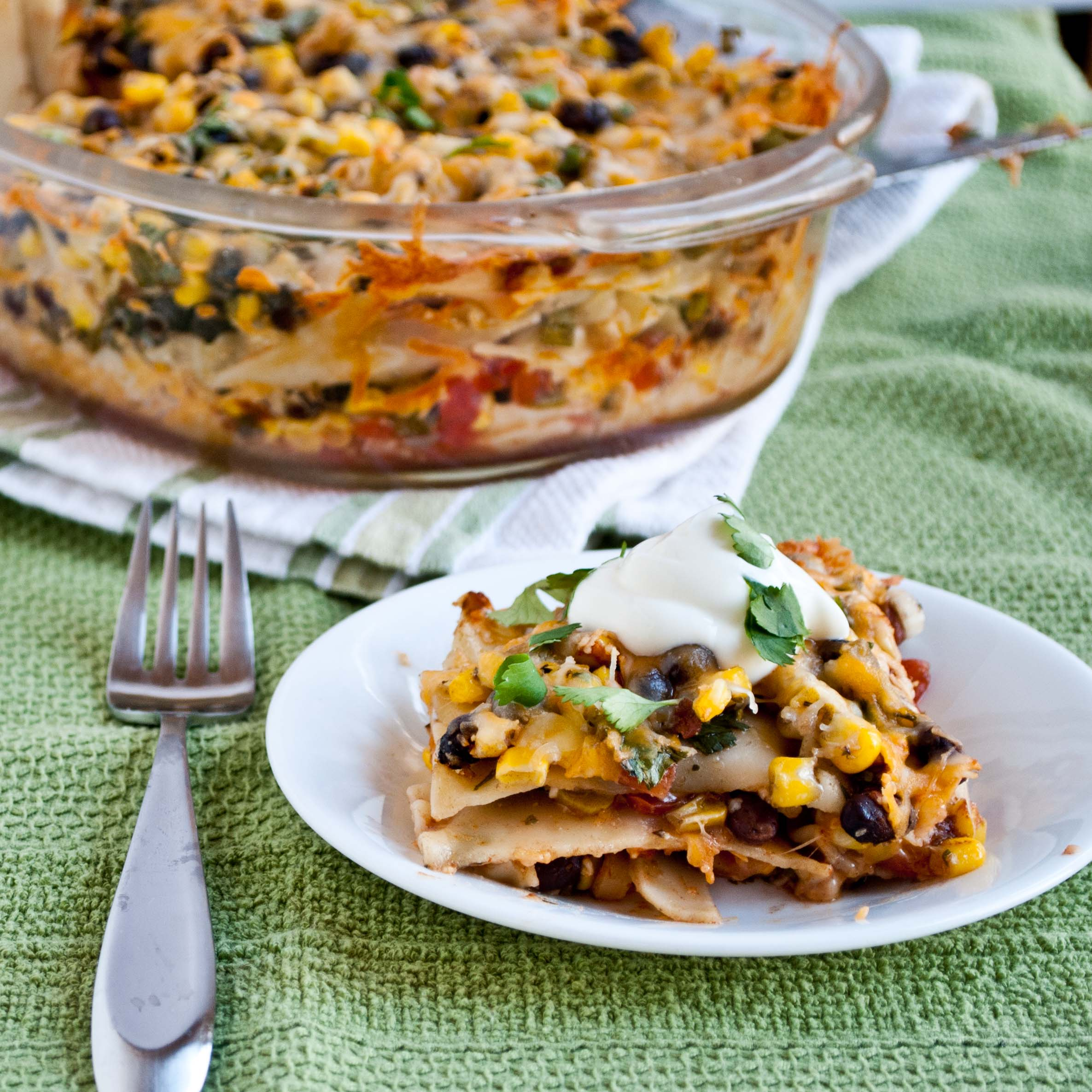 Easy Mexican Lasagna