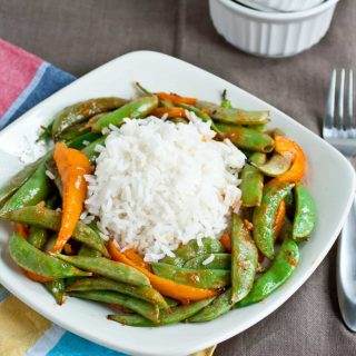 Grilling for Girls: Asian Snap Peas and Peppers