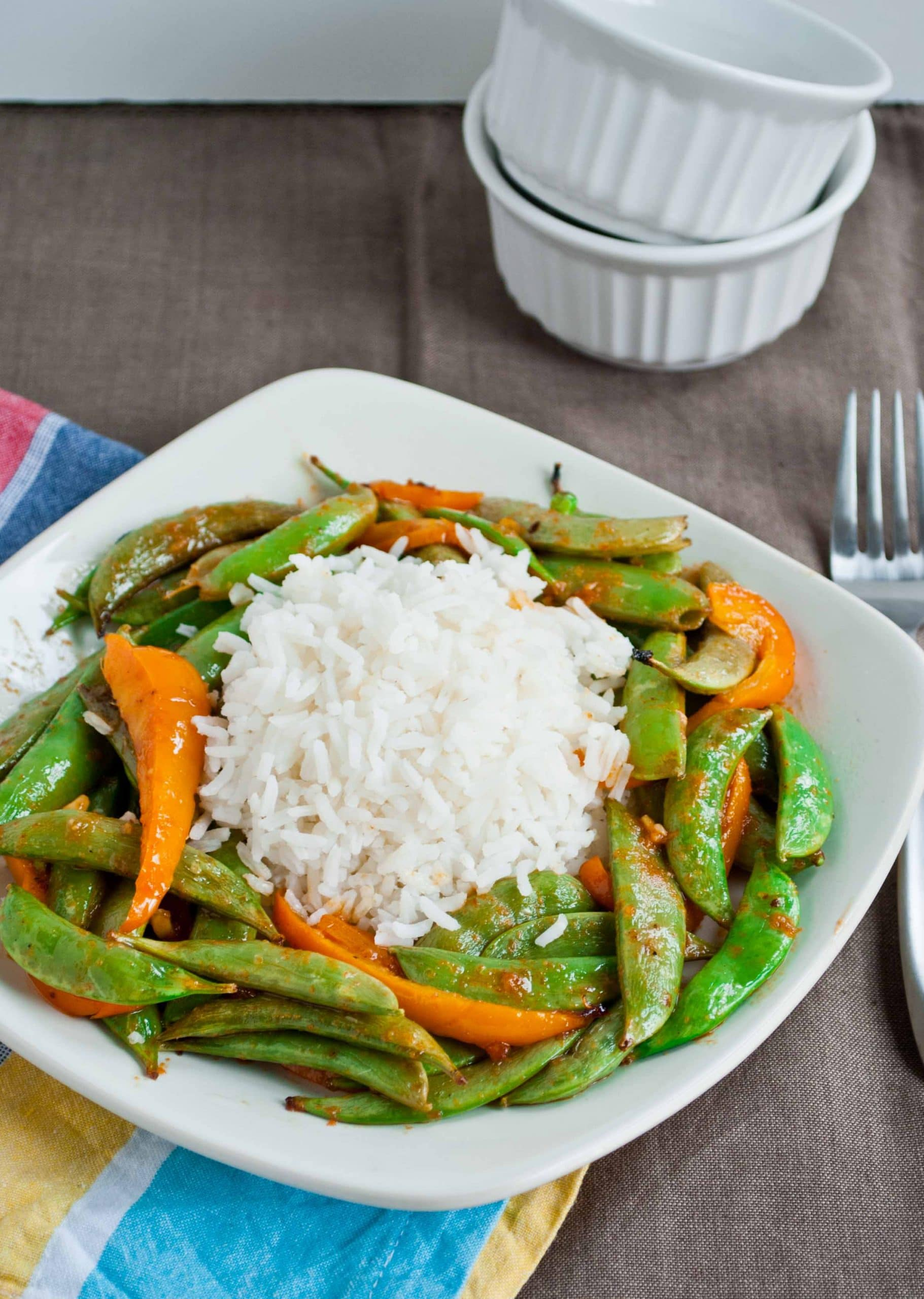 Grilled Asian Snap Peas