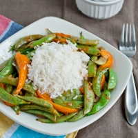 Asian Snap Peas and Peppers