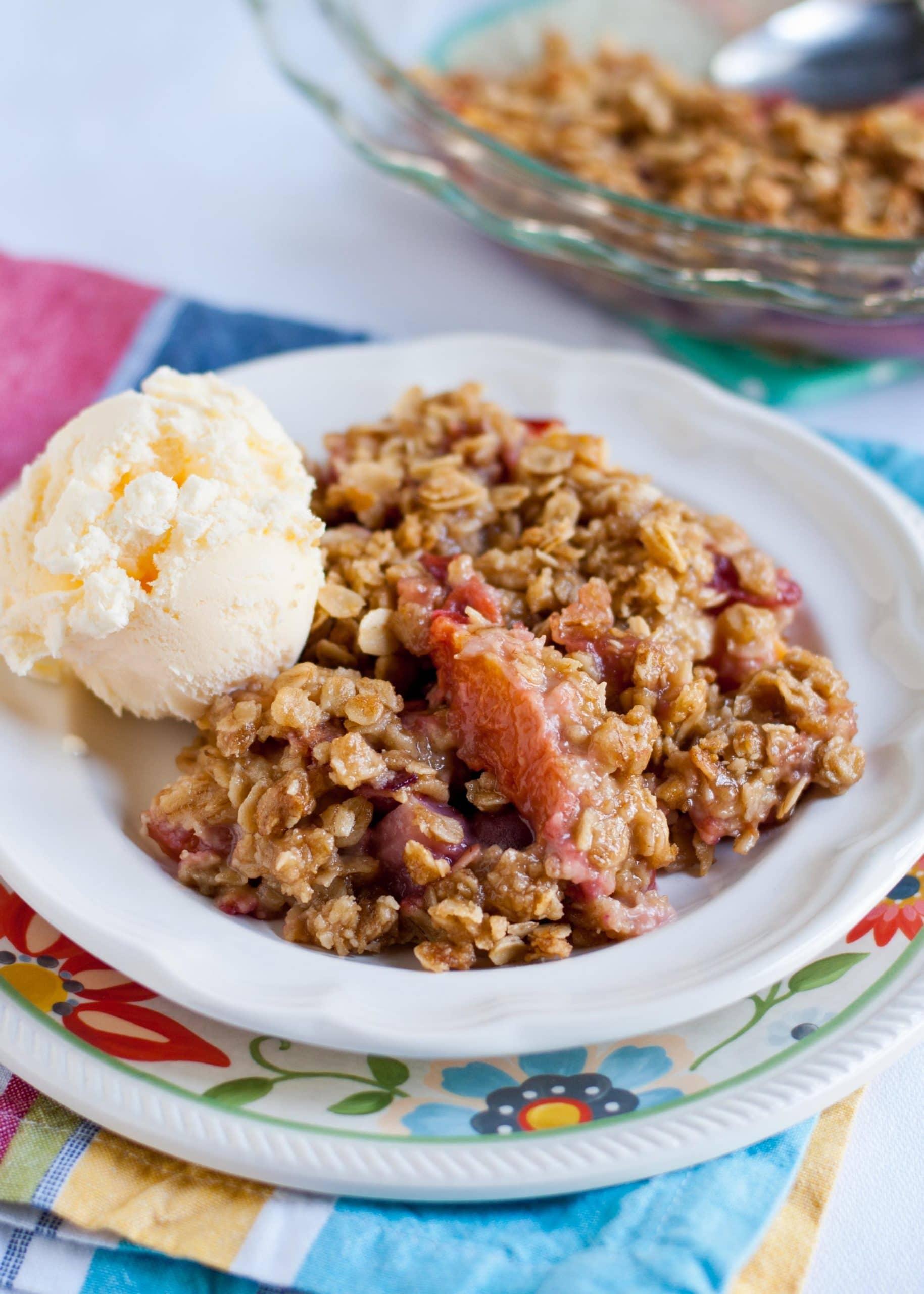 Nectarine, Cherry, and Strawberry Crisp | Neighborfoodblog.com
