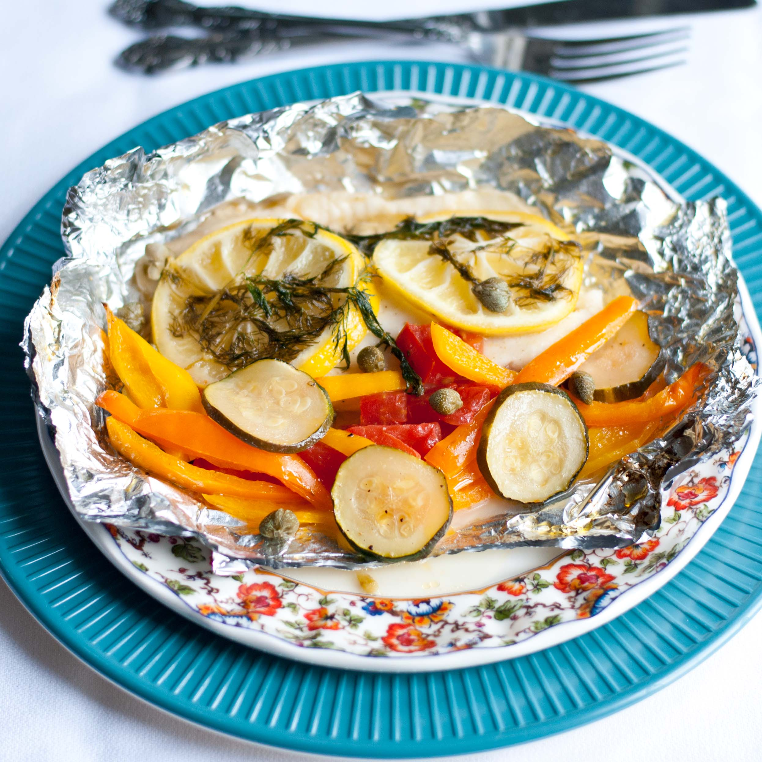 Grilled Lemon Tilapia in a Foil Packet