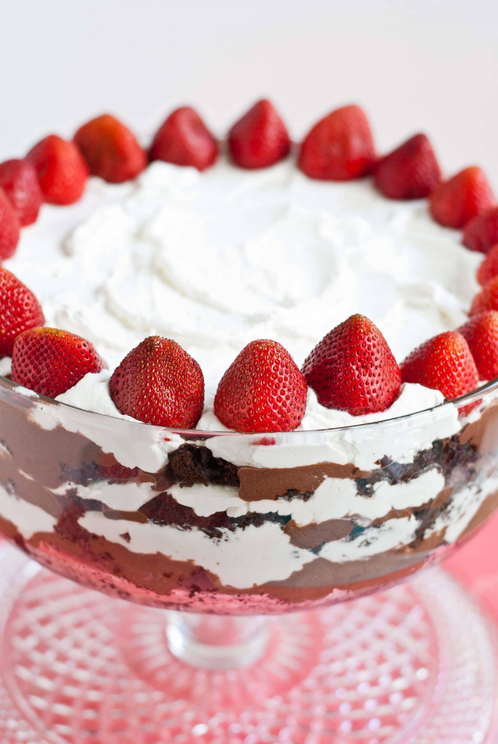 Triple Chocolate Punch Bowl Cake | Neighborfoodblog.com