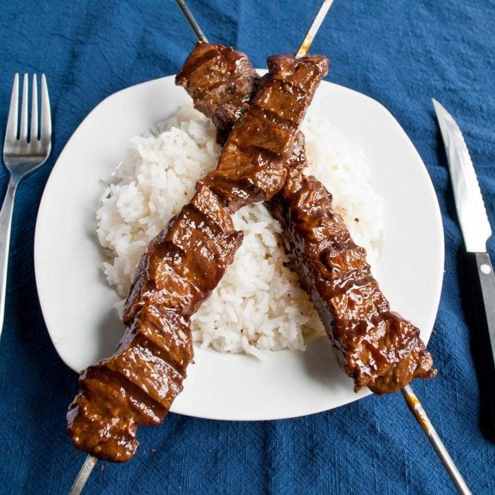 Grilled Teriyaki Beef Skewers