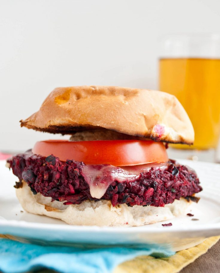 The Ultimate Beet and Bean Veggie Burgers