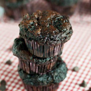 Skinny Chocolate Fudge Muffins