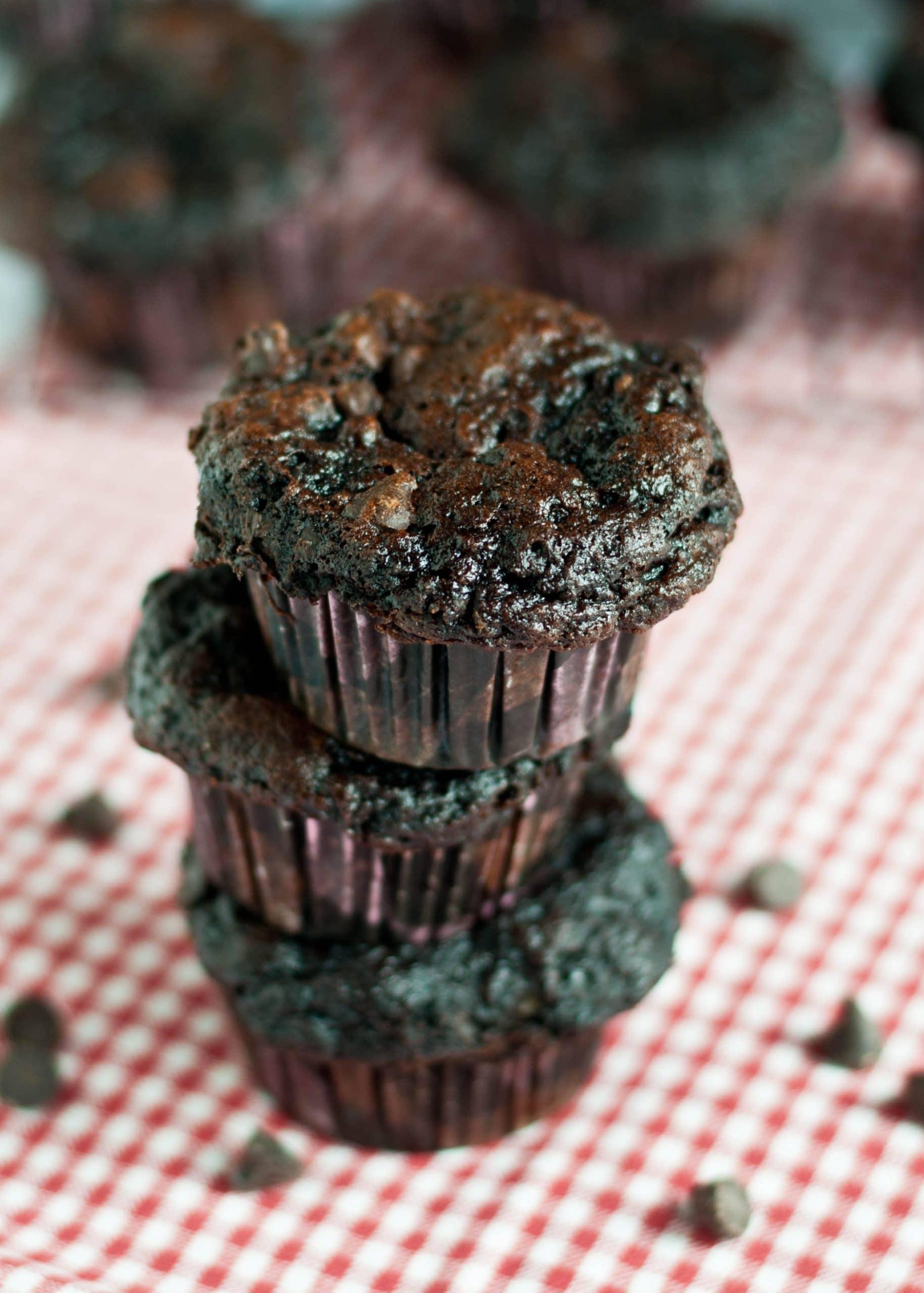 Skinny Fudge Muffins | Neighborfoodblog.com