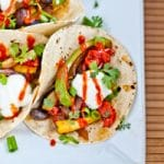 Sweet and Spicy Asian Veggie Tacos
