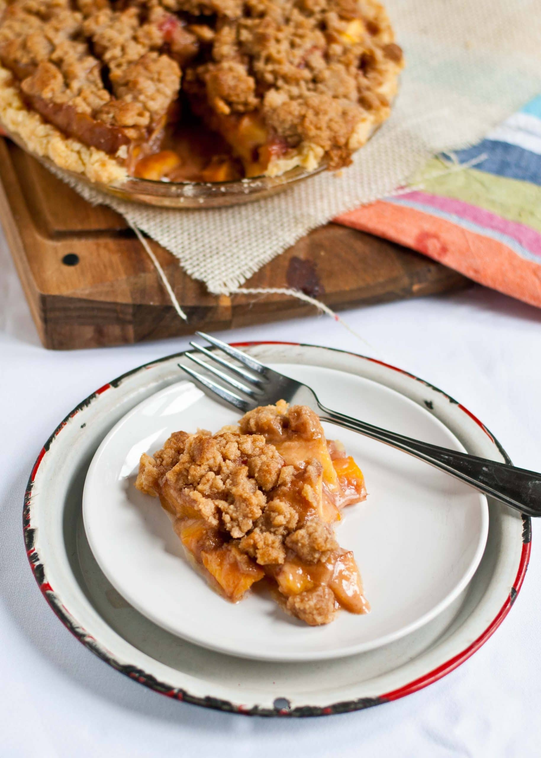 Peach Crumb Pie | Neighborfoodblog.com