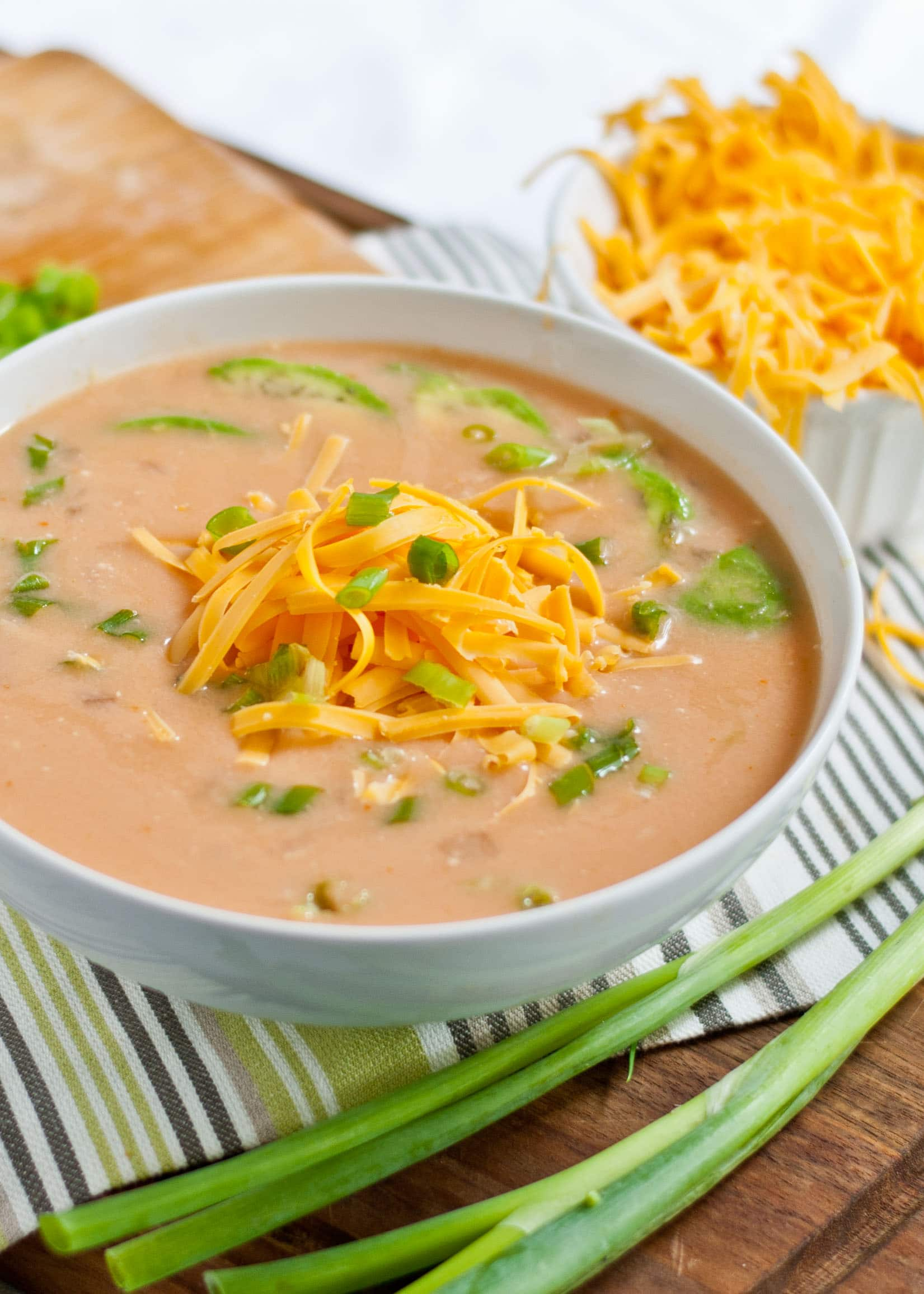 Slow Cooker Spicy Buffalo Chicken Soup   Neighborfoodblog.com #tailgating