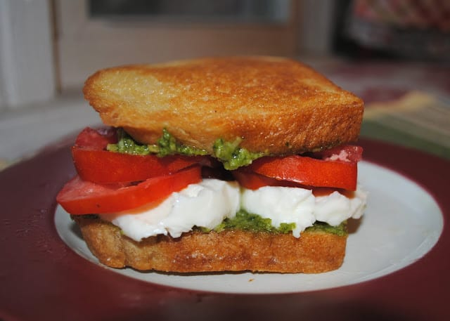 ... Onions, Pesto, And Grilled Mozzarella Sandwich Recipes — Dishmaps