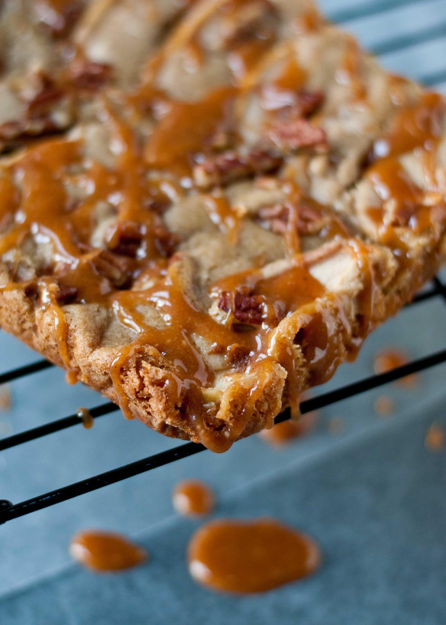 Easy Apple Blondies with Cider Glaze | Neighborfoodblog.com