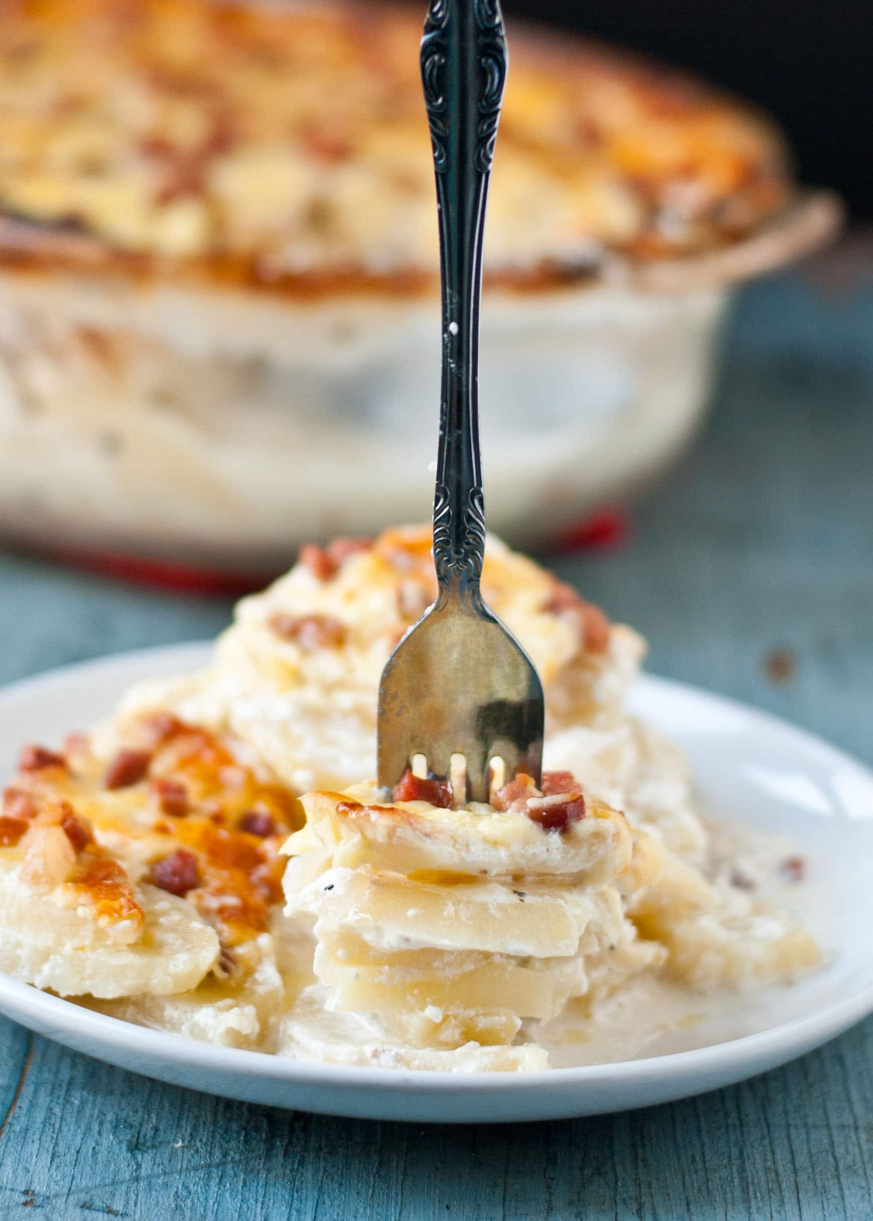 Potatoes and Apples Au Gratin with Skellig Cheddar Cheese | Neighborfoodblog.com