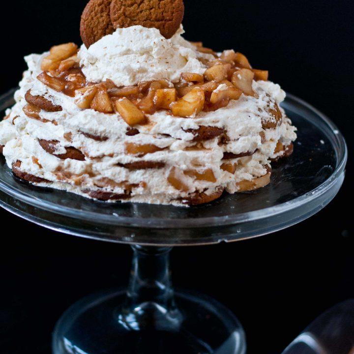 Apple Pie Gingersnap Icebox Cake (Gluten Free!)