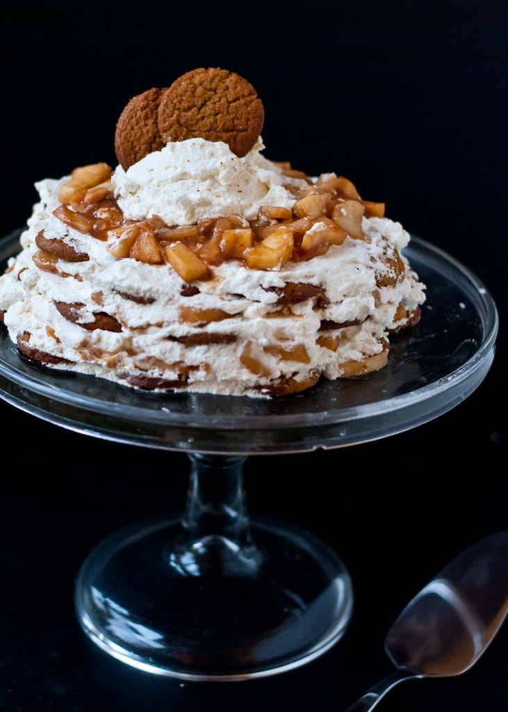 Apple Pie Gingersnap Ice Box Cake | Neighborfoodblog.com