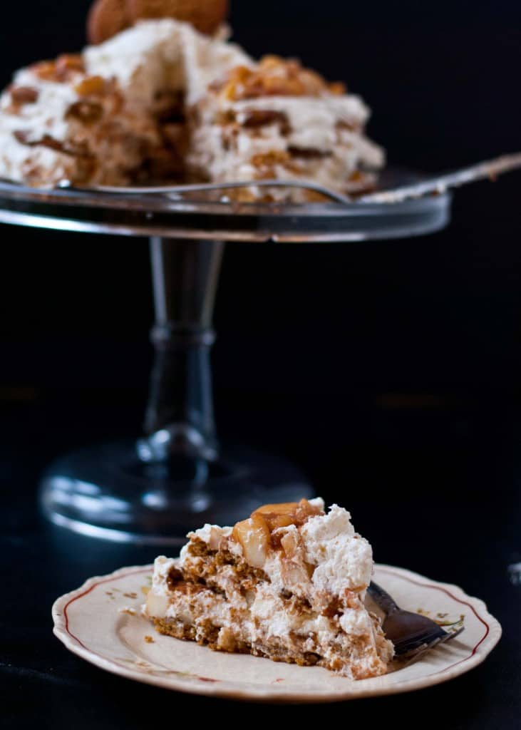 Apple Pie Gingersnap Icebox Cake | Neighborfoodblog.com #glutenfree #nobake #dessert