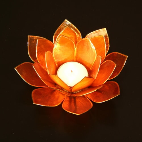 lotus flower candle from Fair and Square Imports