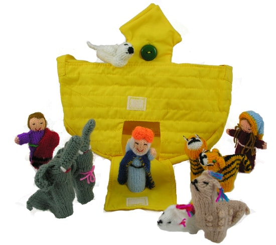 Noah's Ark Finger Puppet from Come Together Trading Company