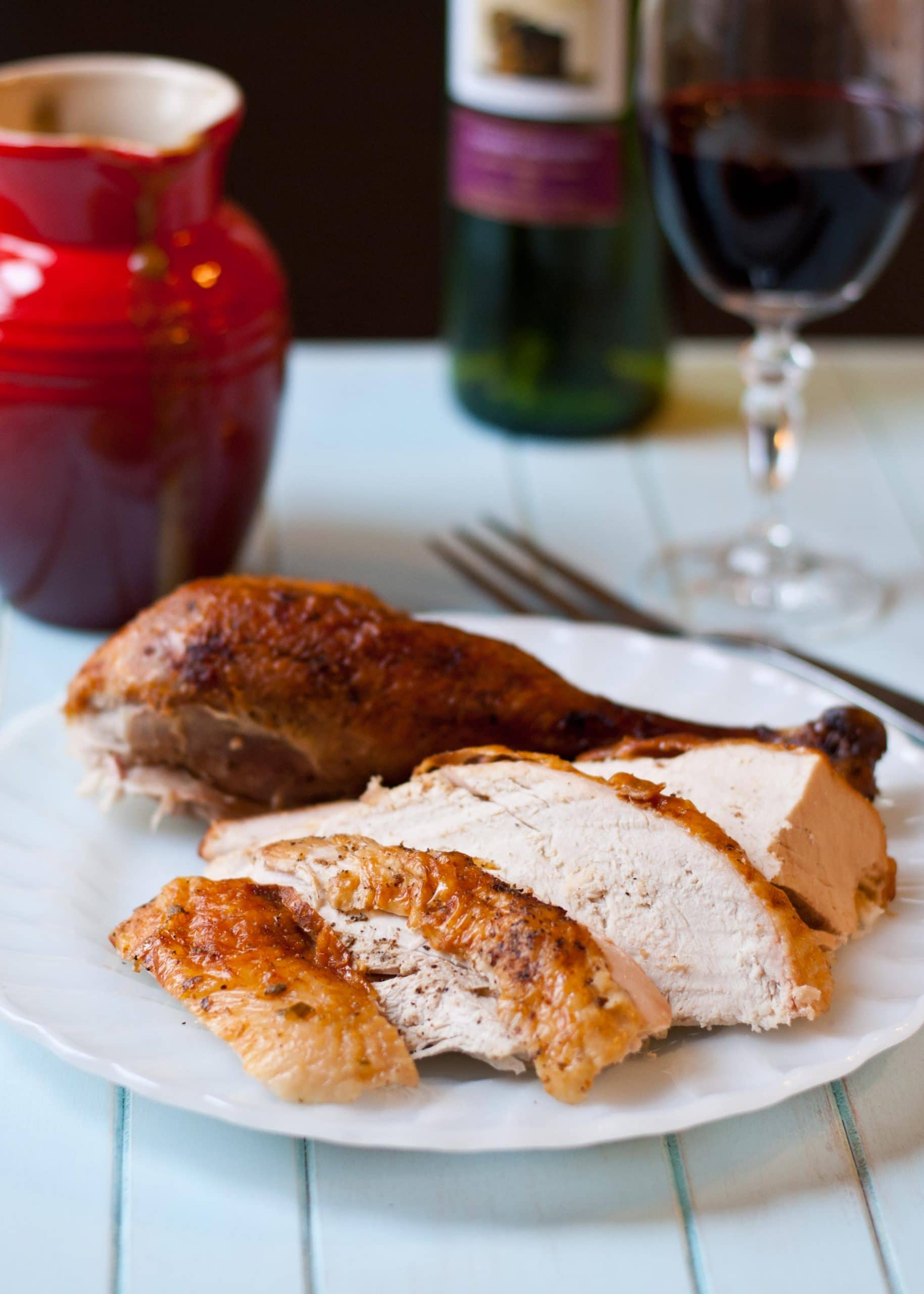 Easy Garlic and Herb Turkey--no fuss, no frills, just really good turkey!