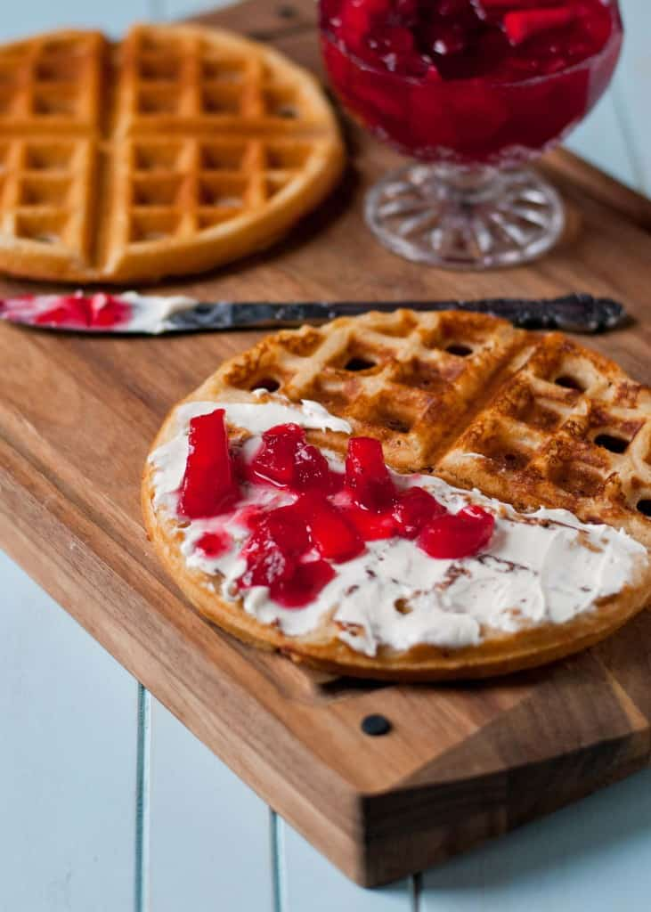 Waffled Cranberry Cream Cheese Turkey Sandwiches | Neighborfoodblog.com