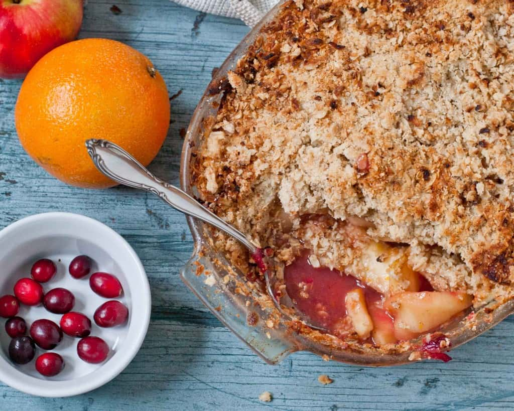 Spiced Cranberry Apple Crisp | Neighborfoodblog.com