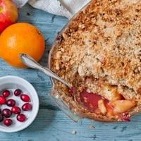 Spiced Cranberry Apple Crisp #SundaySupper