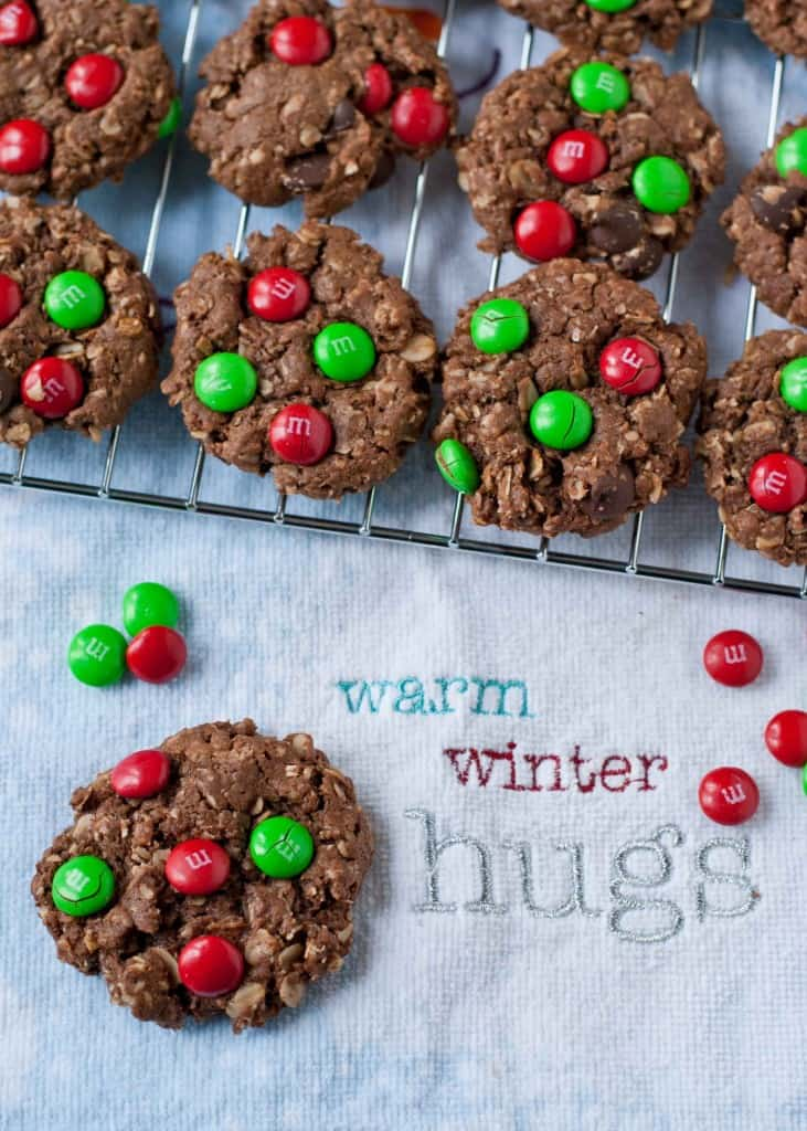 Chocolate Christmas Monster Cookies | Neighborfoodblog.com