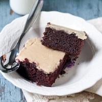 Recipe Remix: Chocolate Crazy Cake with Caramel Glaze